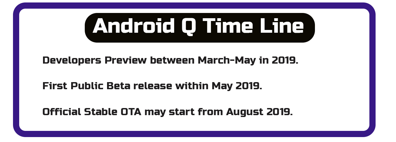 Android Q: Expected Release Time