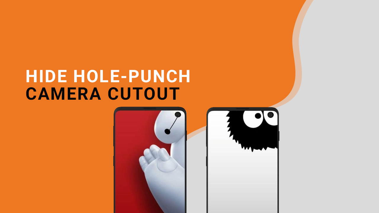 Hide Galaxy S10 hole-punch camera cutout