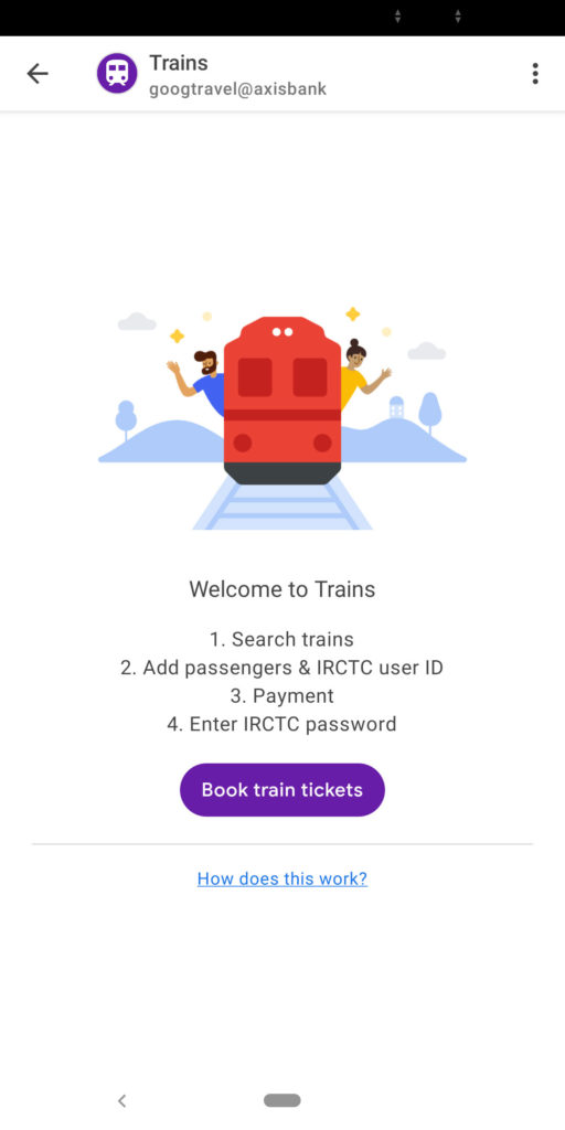 How to book train tickets via Google Pay and UPI payment