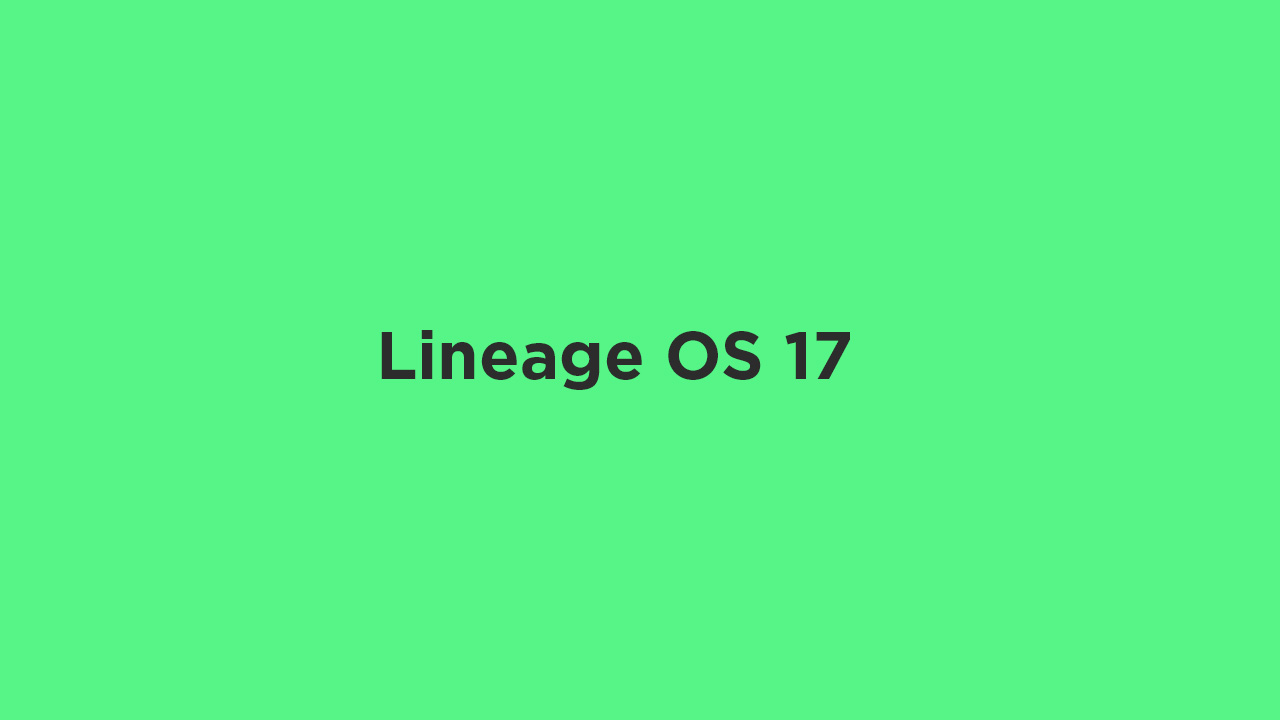 Lineage OS 17 for OnePlus 6T (Android 10)